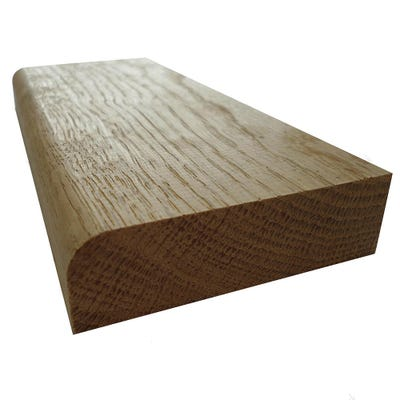 20mm x 68mm Hardwood American White Oak Pencil Round Architrave