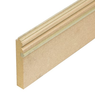 Matchboard 18mm x 111mm Moisture Resistant MDF Skirting 2.44m