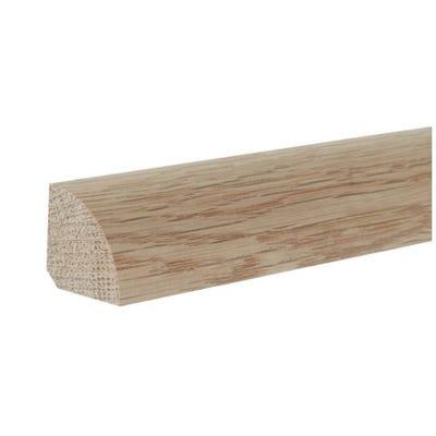 19mm x 19mm Hardwood American White Oak Quadrant