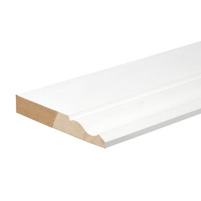18mm x 119mm MDF White Primed Ogee Skirting Board 4400mm