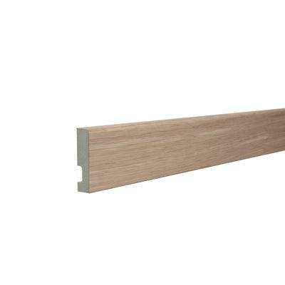 18mm x 69mm MDF White Oak Veneered Pencil Round Architrave 4400mm