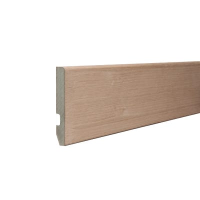 18mm x 119mm MDF White Oak Veneered Pencil Round Skirting 4400mm