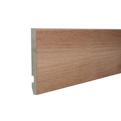 18mm x 169mm MDF White Oak Veneered Pencil Round Skirting 4400mm