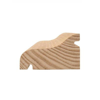 50mm x 63mm Softwood Reversible Door Drip (2.5'' x 2'') Finish 44mm x 57mm