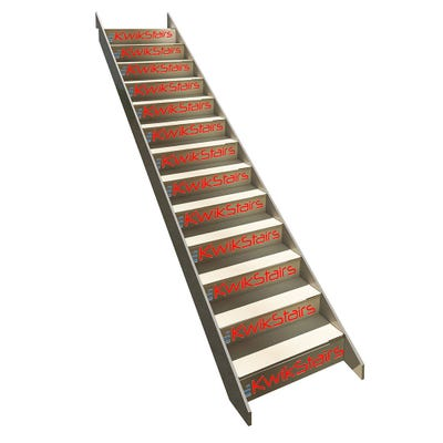 Kwikstairs Straight Staircase Up to 900mm Wide and Max 2860mm Floor to Floor