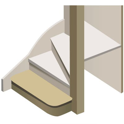 Kwikstairs Bullnose Staircase Kit Up to 900mm Wide