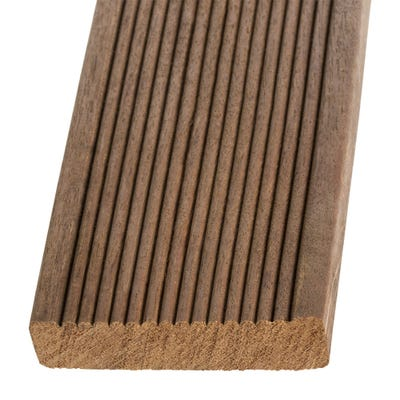 19mm x 90mm Hardwood Balau Reeded Decking Board 3.962m