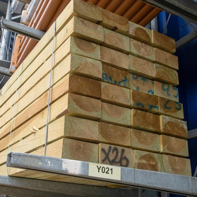 120mm x 245mm Treated Green Railway Sleeper 2400mm