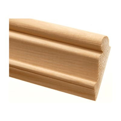 42mm x 15mm Richard Burbidge Pine Picture Rail 2400mm FB224 Pack of 10
