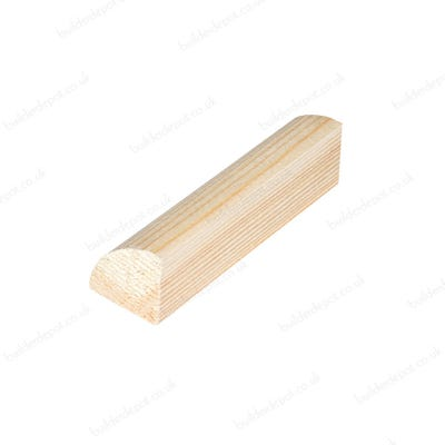6mm x 6mm Richard Burbidge Pine Quadrant 2400mm FB432 Pack of 30