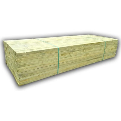 47mm x 250mm Structural Graded C24 Treated Carcassing Timber 6000mm (10'' x 2'') Pack of 44