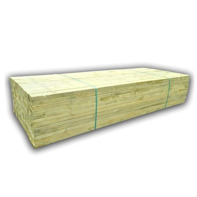 75mm x 100mm Structural Graded C24 Treated Carcassing Timber 4800mm (4'' x 3'') Pack of 77