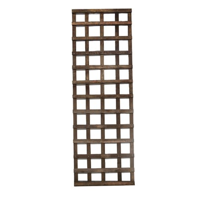 6' x 2' Brown Treated Square Trellis