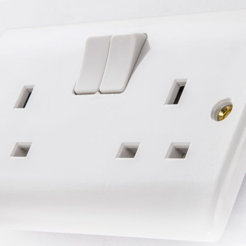 White Plastic Switches & Sockets